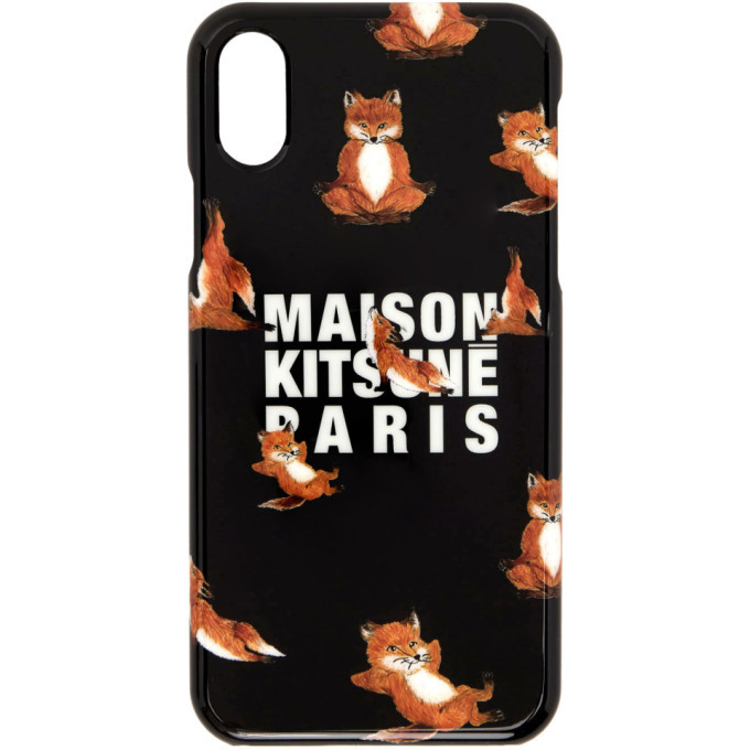 Photo: Maison Kitsune Black Yoga Fox iPhone X Case