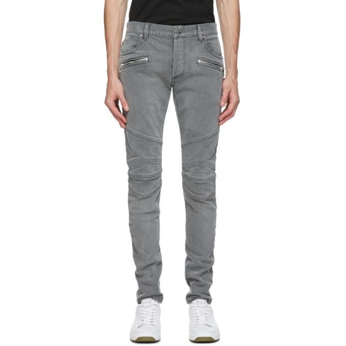 Photo: Balmain Black Monogram Slim Jeans