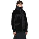 Sacai Black Wool Knit Jacket