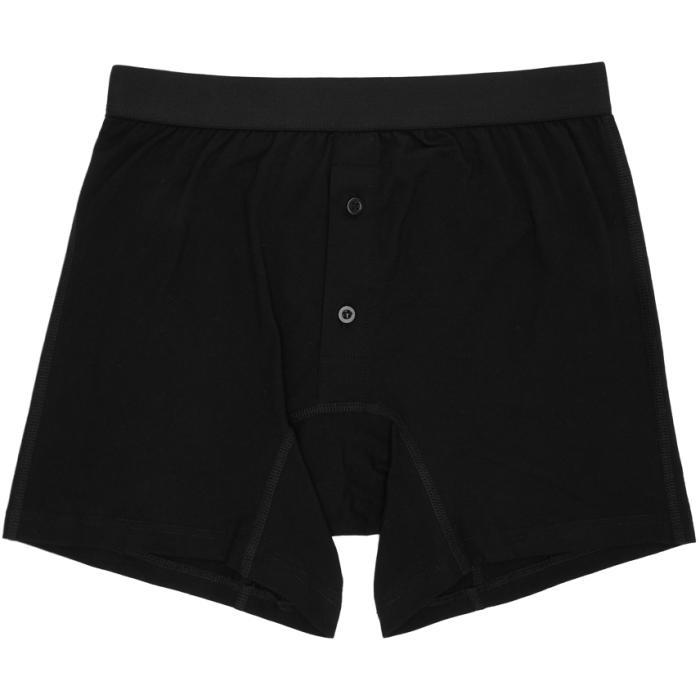 Photo: Comme des Garçons Shirt Black Plain Button Down Boxers