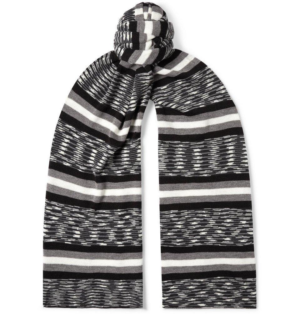Photo: Missoni - Space-Dyed Wool-Blend Scarf - Black