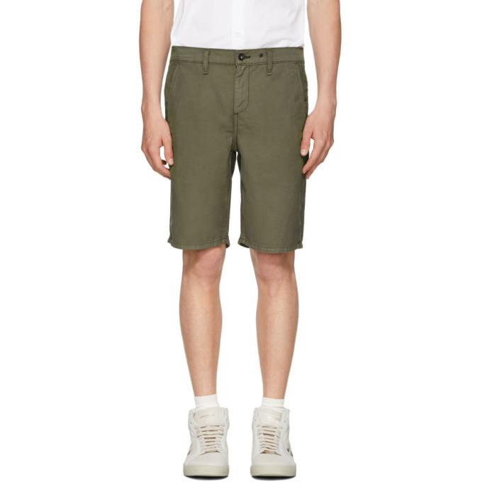 Photo: rag and bone Green Classic Chino Shorts