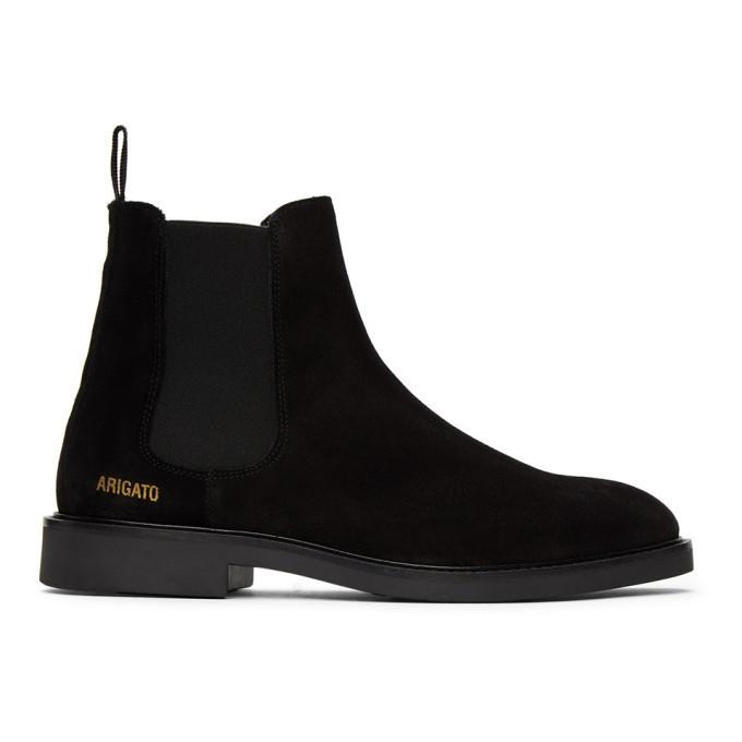 Photo: Axel Arigato Black Suede Chelsea Boots