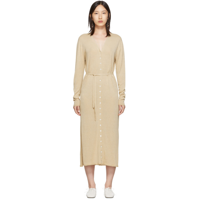Lemaire Beige Cardigan Dress