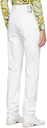 Raf Simons White Denim Picture Patch Jeans