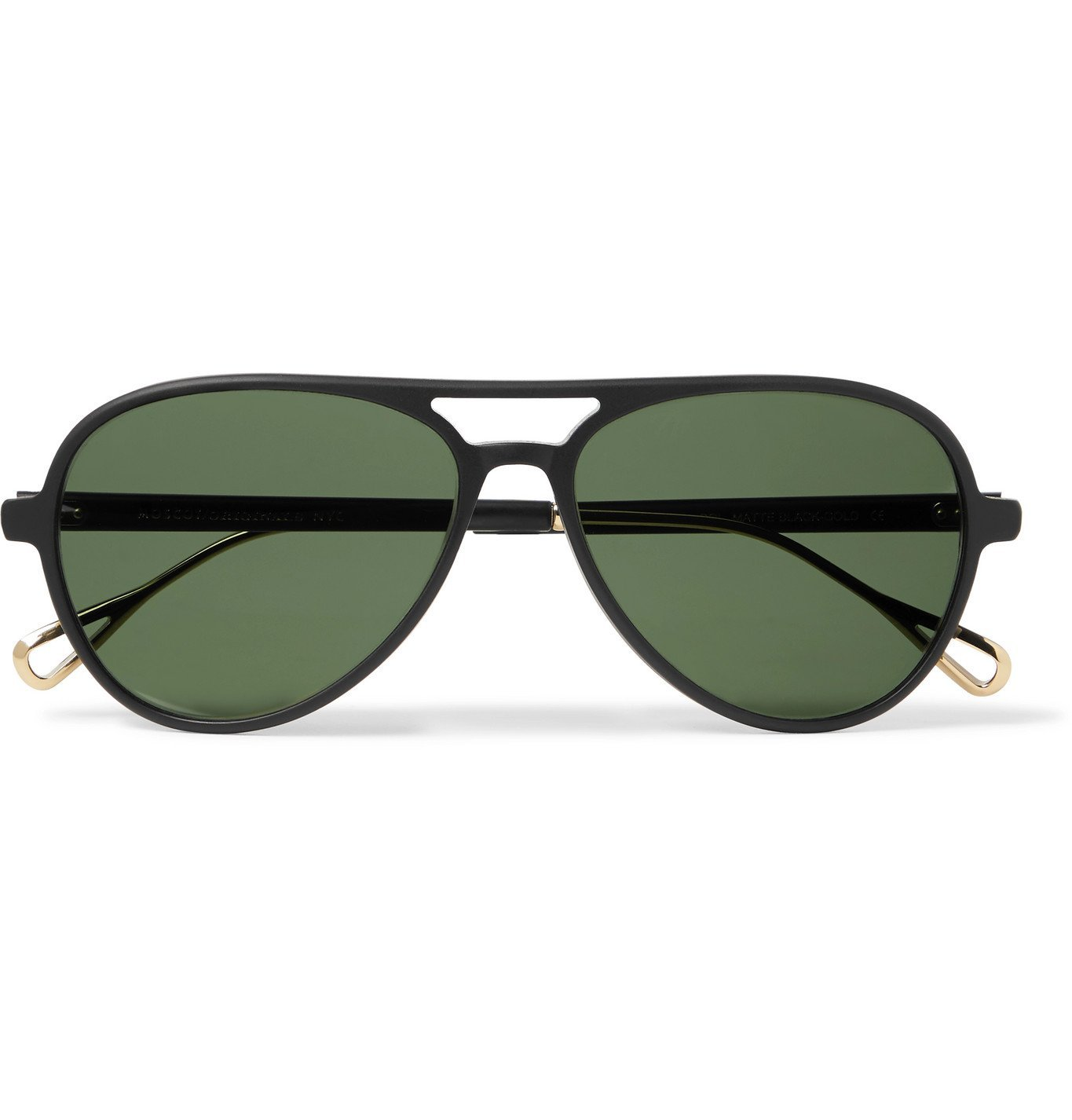 Photo: Moscot - Aviator-Style Acetate and Gold-Tone Sunglasses - Black