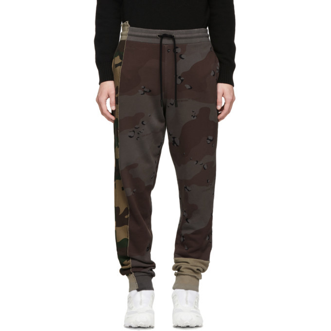 Photo: Off-White Multicolor Camo Reconstructed Lounge Pants