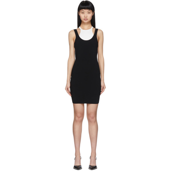 Photo: alexanderwang.t Black and White Bi-Layer Sleeveless Dress