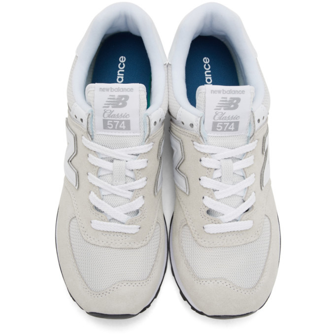 New Balance Grey and Silver 997H Sneakers