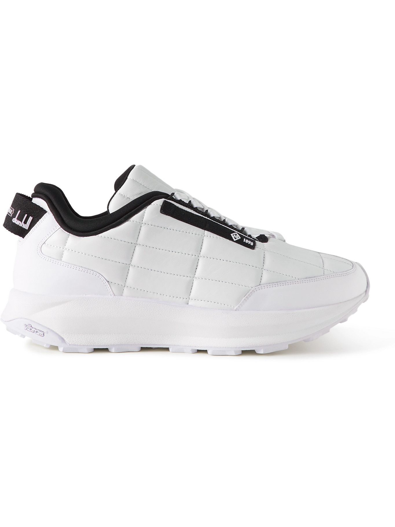 Photo: Dunhill - Aerial GT Grosgrain-Trimmed Quilted Leather Sneakers - White