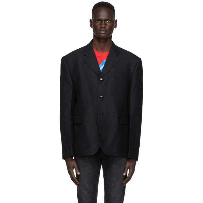 Photo: We11done Black Three-Button Classic Blazer