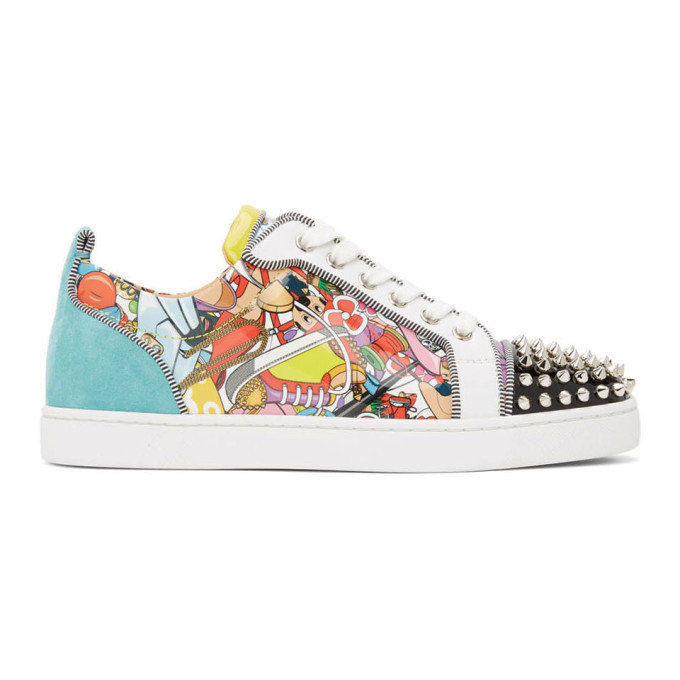 Photo: Christian Louboutin Multicolor Louis Junior Spikes Orlato Sneakers