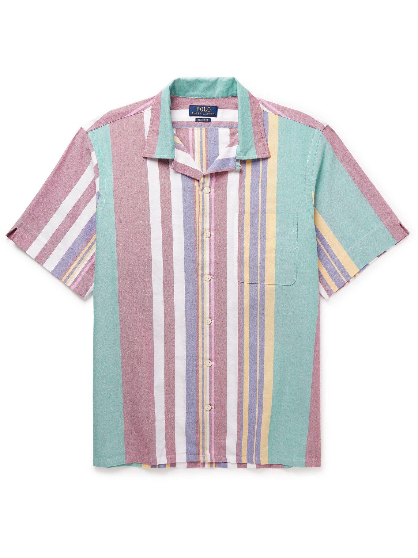 Photo: POLO RALPH LAUREN - Striped Cotton Oxford Shirt - Multi