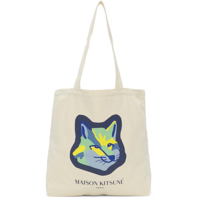 Photo: Maison Kitsune Off-White Fox Head Tote