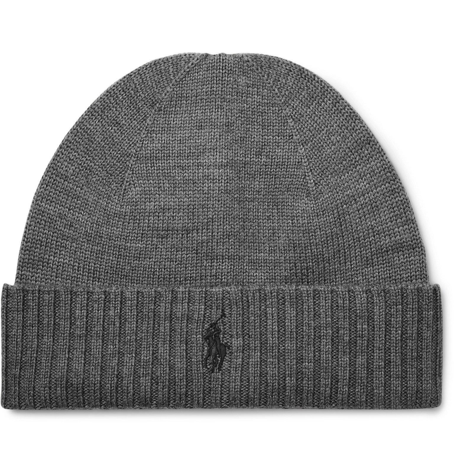 Photo: Polo Ralph Lauren - Logo-Embroidered Merino Wool Beanie - Gray