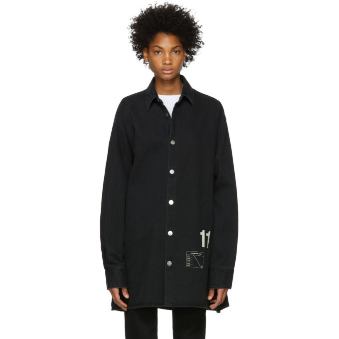 Photo: Raf Simons Black Denim Easy Fit Shirt