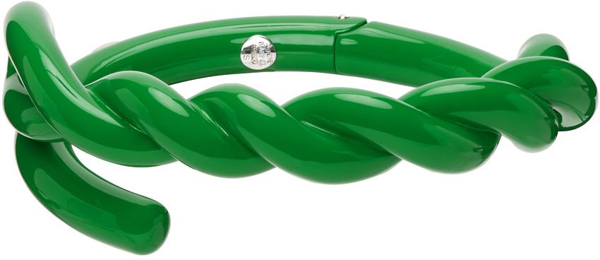 Photo: Bottega Veneta Green Twist Cuff Bracelet