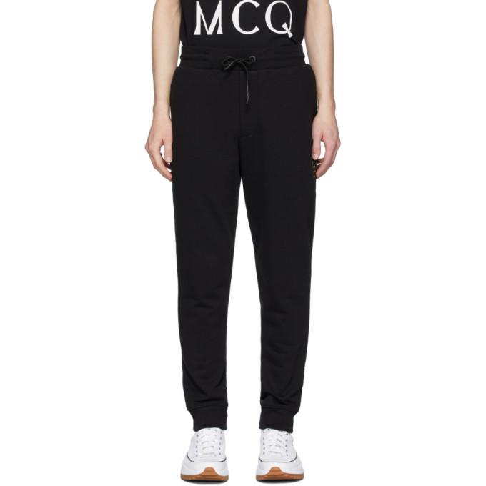 Photo: McQ Alexander McQueen Black Embroidered Logo Sweatpants