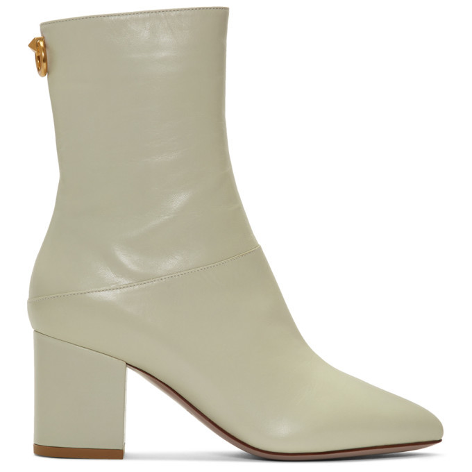 Photo: Valentino Off-White Valentino Garavani Ringstud Boots