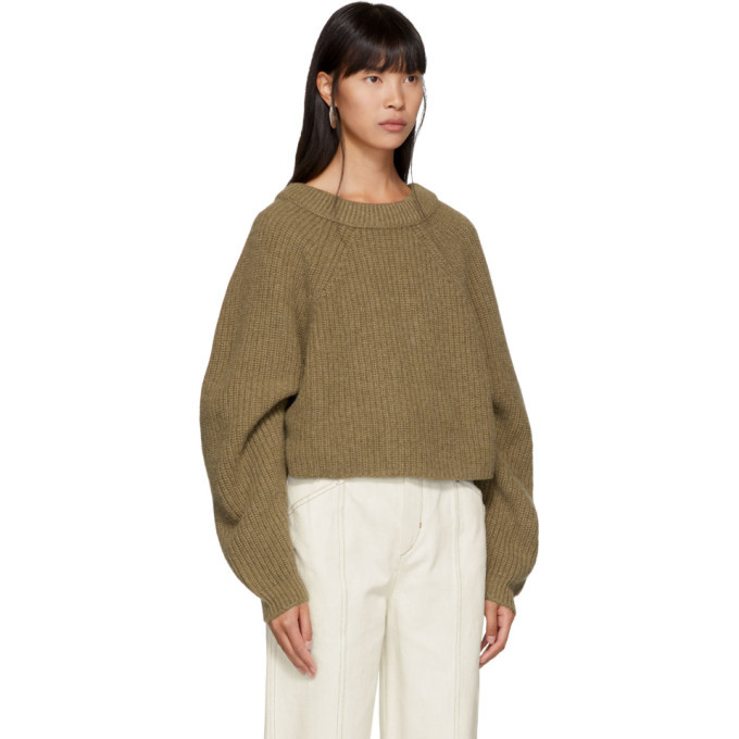 Lemaire Brown Wool Round Sweater