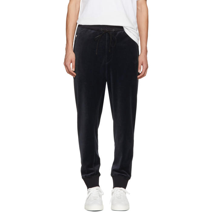 3.1 Phillip Lim Navy Tapered Velour Lounge Pants