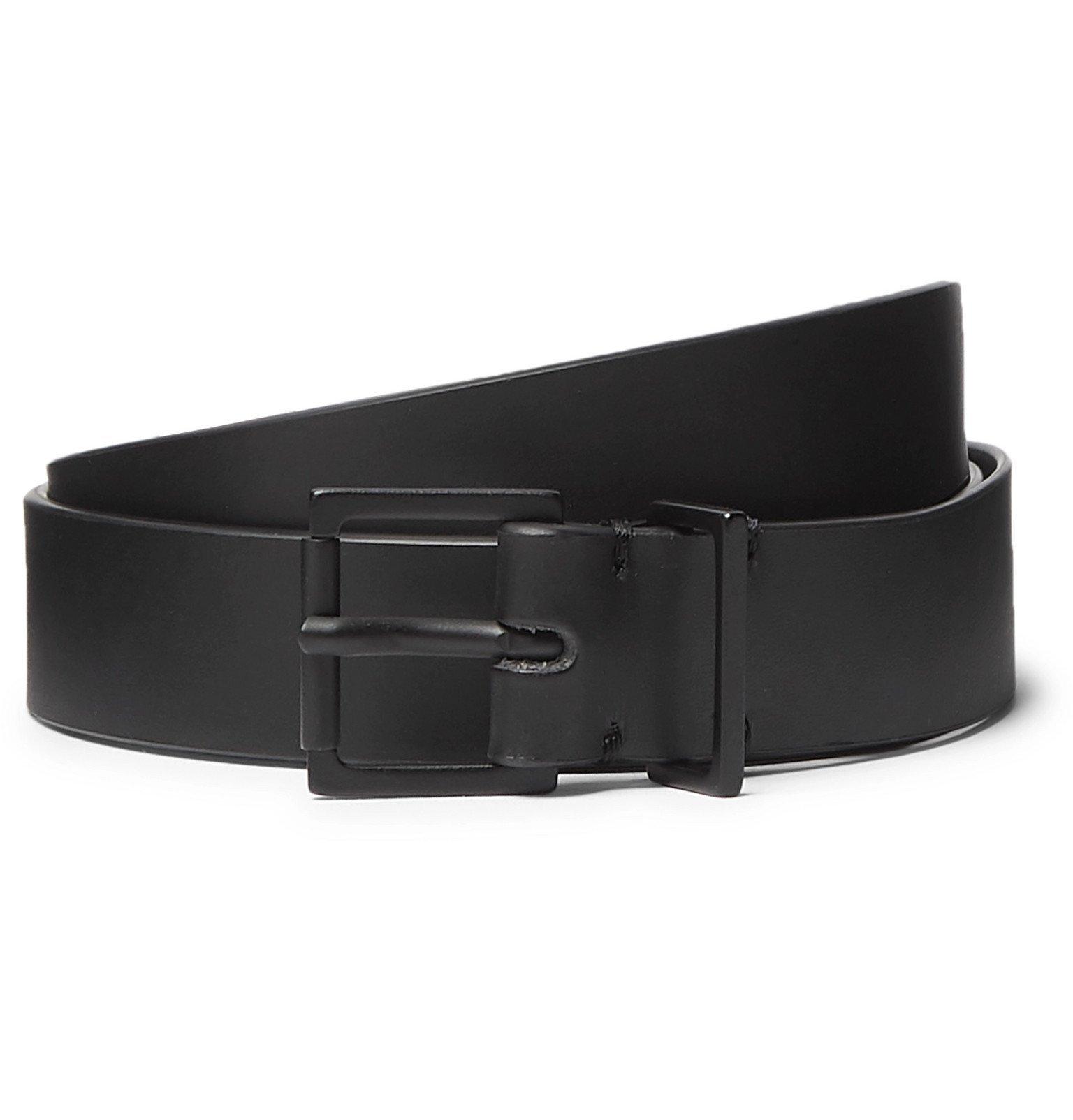 Photo: Maison Margiela - 2.5cm Black Leather Belt - Black