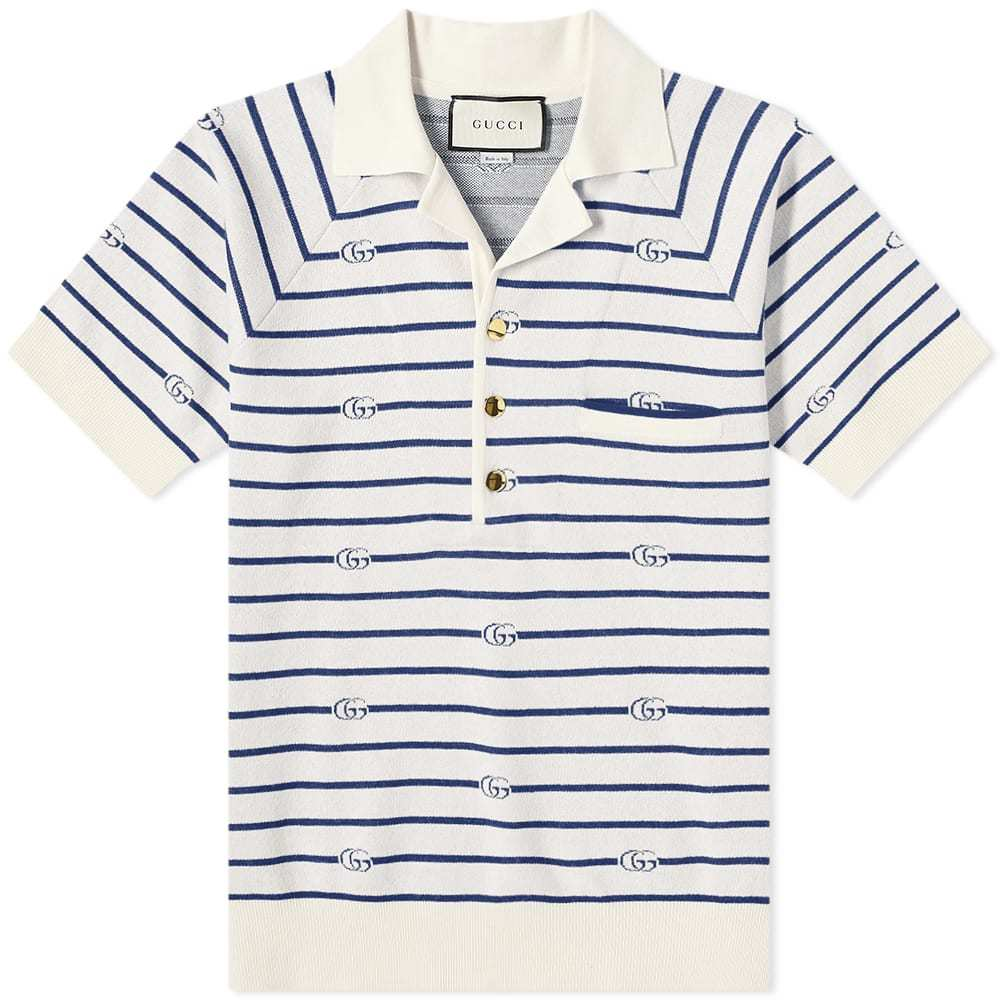 Photo: Gucci GG Stripe Knitted Polo