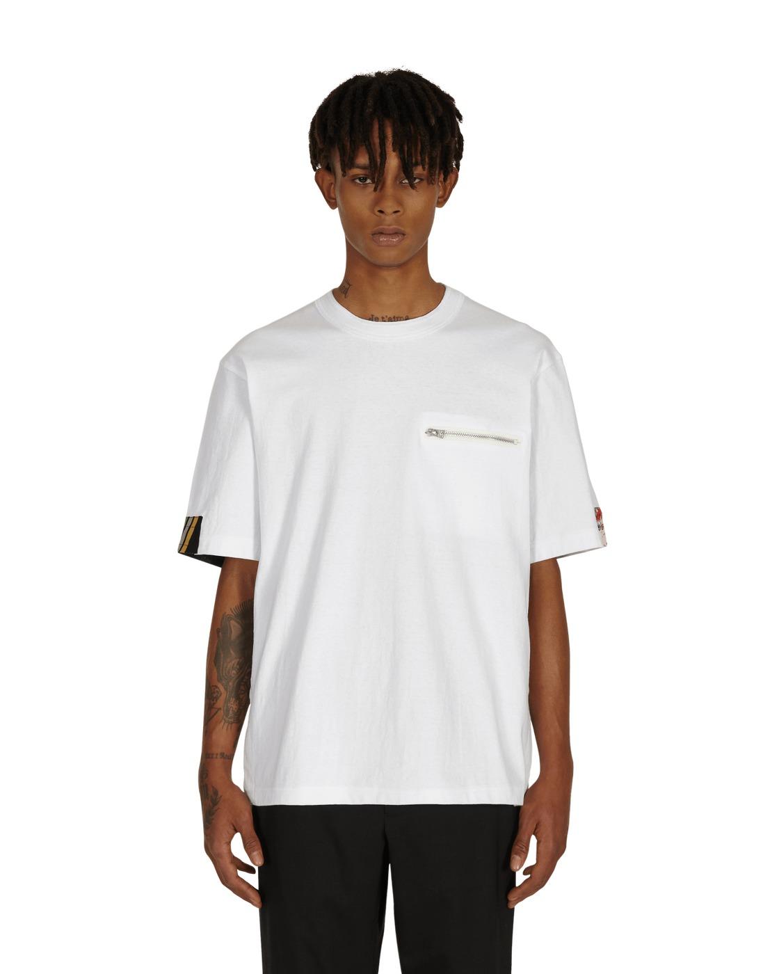 Sacai Archive Print Mix T Shirt White