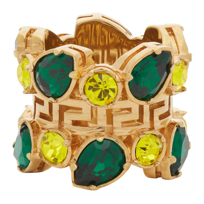 Versace Green Jungle Empire Ring