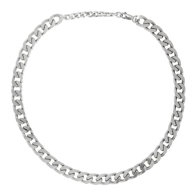 Photo: Bottega Veneta Silver Thick Chain Necklace