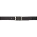 Giorgio Armani Black and Navy Reversible Leather Belt