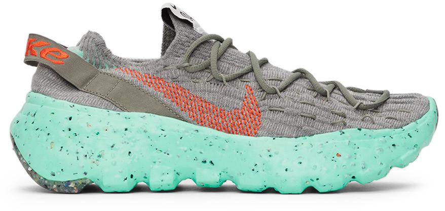 Photo: Nike Grey & Green Space Hippie 04 Sneakers