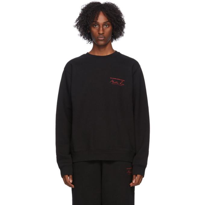 Martine Rose Black Classic Crew Sweatshirt