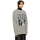 Raf Simons Off-White and Black Stripe Patches Sweater