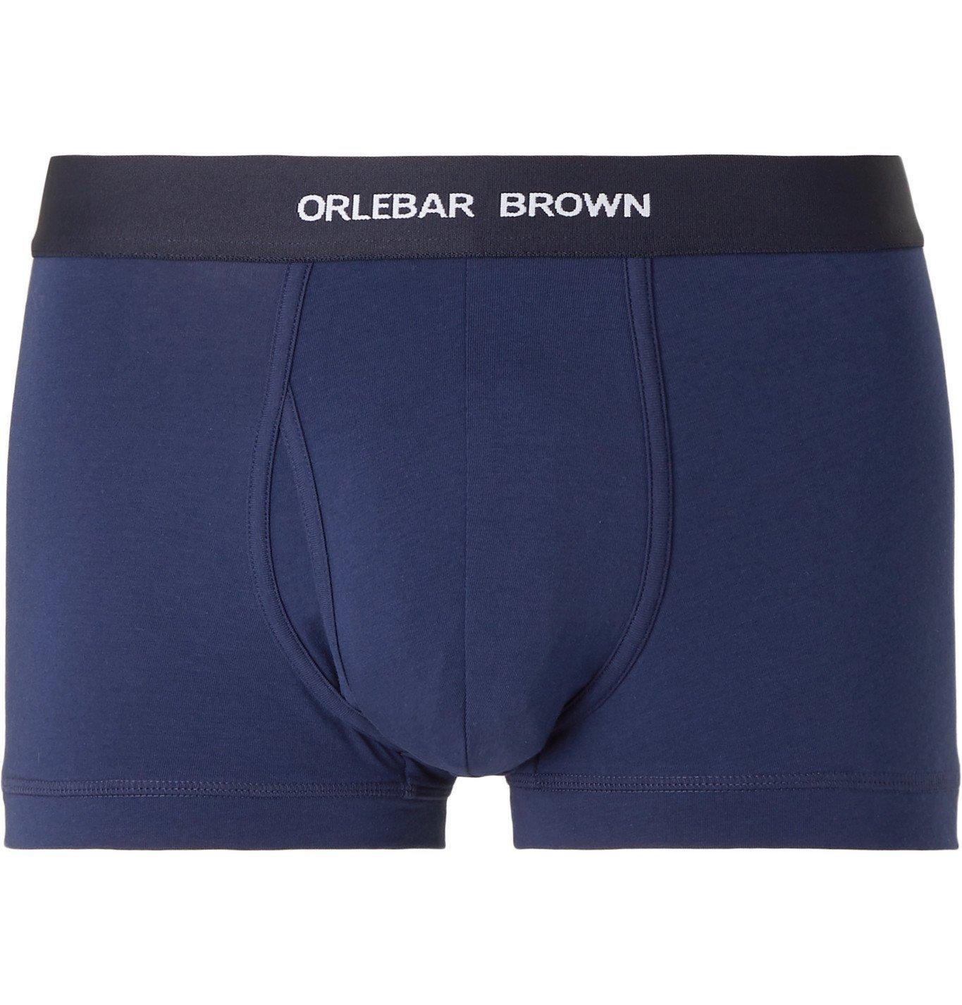 Photo: Orlebar Brown - Stretch-Cotton Jersey Boxer Briefs - Blue