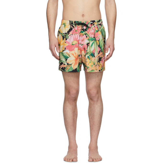 Photo: Dries Van Noten Multicolor Phibbs Floral Swim Shorts