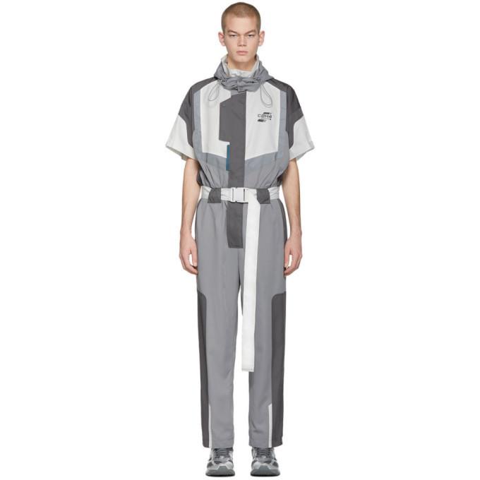 Photo: C2H4 Grey Time Secret-Service Short Sleeve Jumpsuit