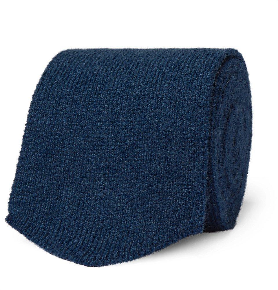 Photo: Richard James - 7cm Cashmere Tie - Blue