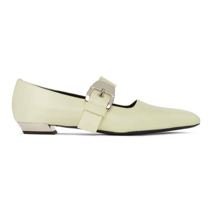 Photo: Proenza Schouler Yellow Mary Jane Slip-On Loafers