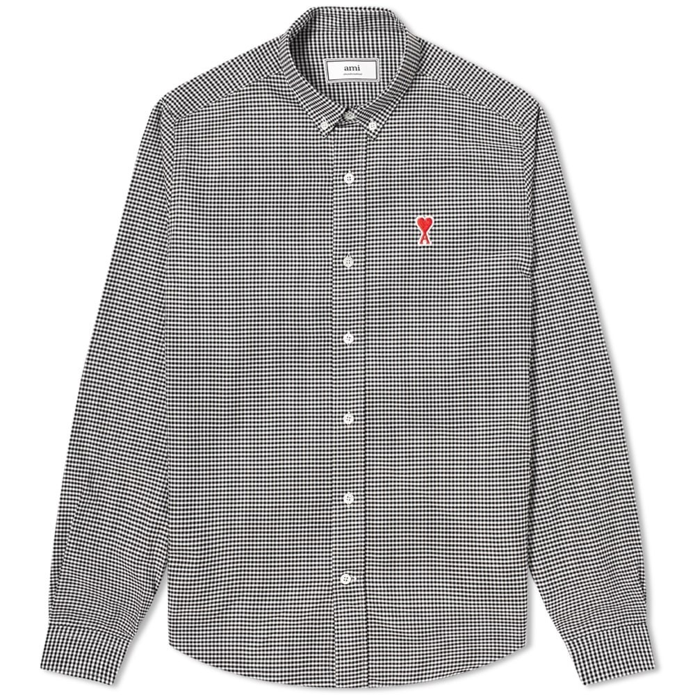 Photo: AMI Button Down A Heart Check Shirt