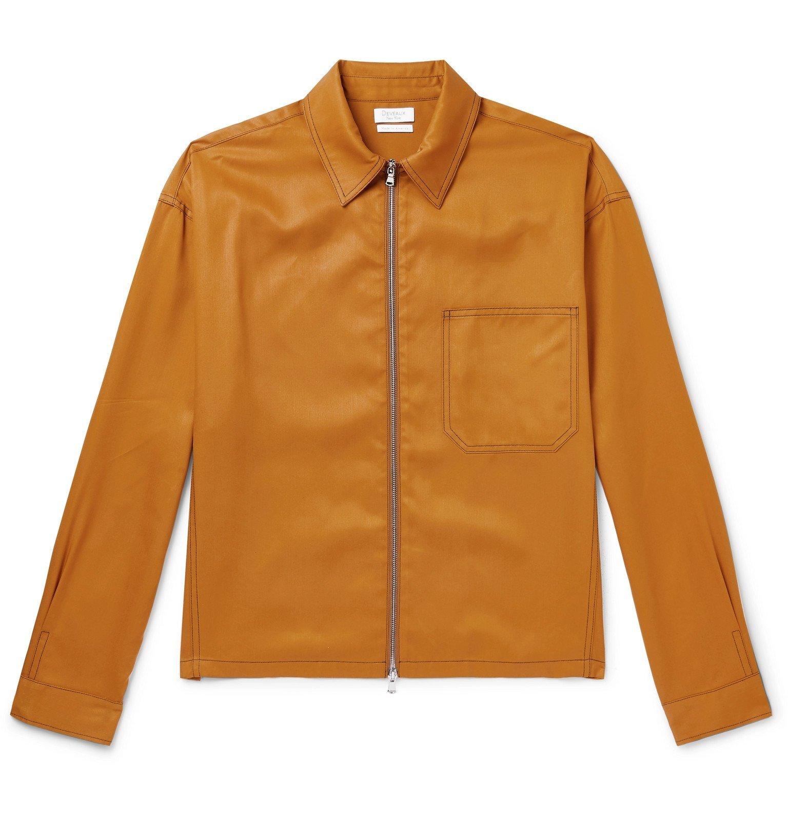 Photo: Deveaux - Tencel Zip-Up Overshirt - Yellow