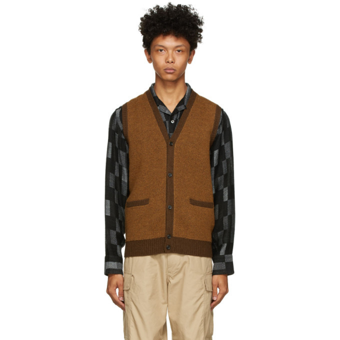 Photo: BEAMS PLUS Brown Birds Eye Vest