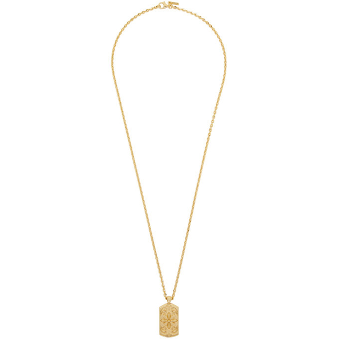 Photo: Emanuele Bicocchi Gold Tag Pendant Necklace