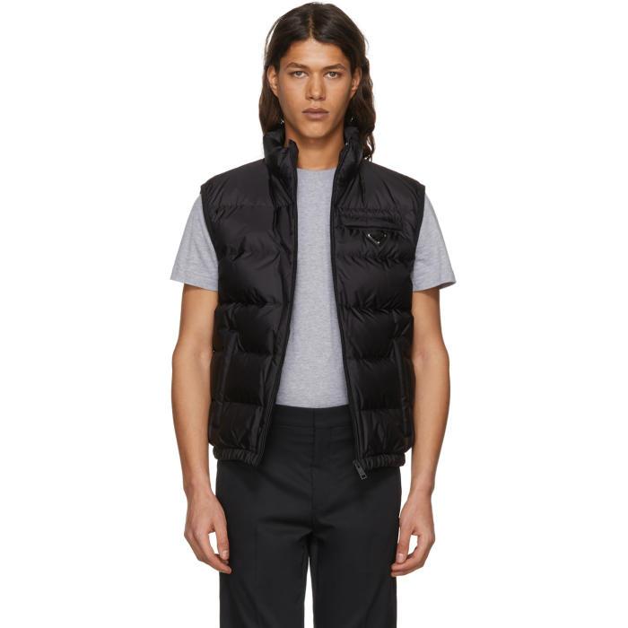 Photo: Prada Black Down Puffer Vest