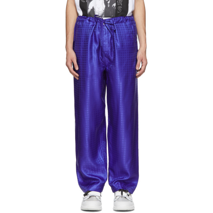 Photo: Comme des Garcons Homme Plus Blue C Pattern Trousers