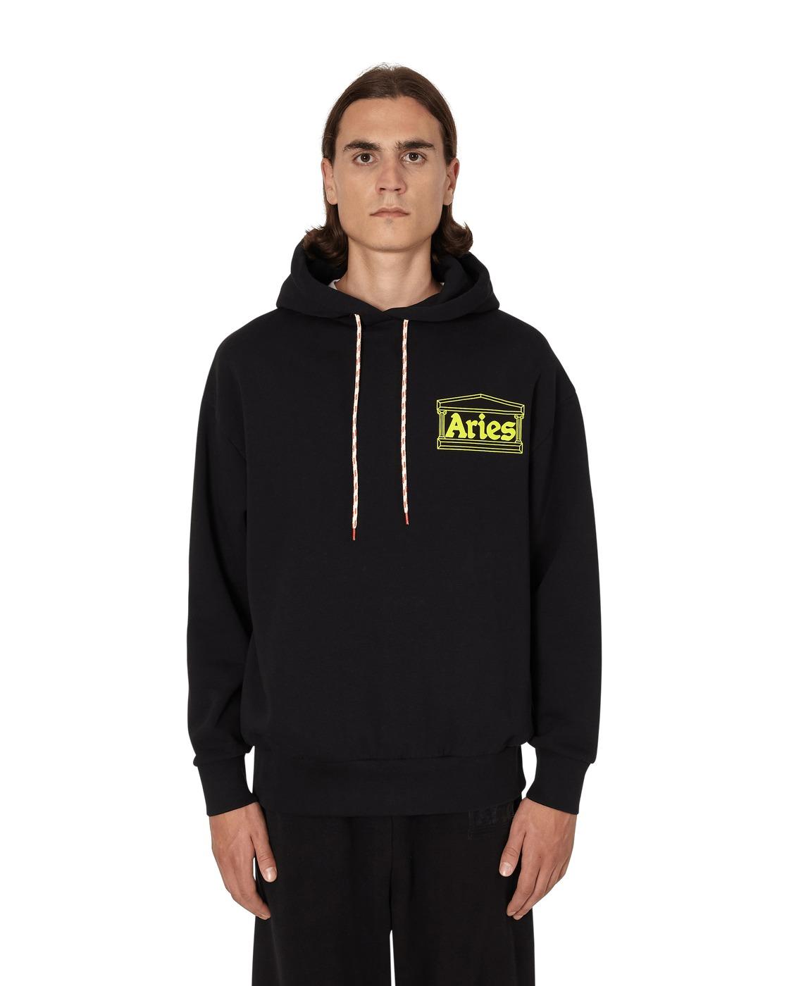 Photo: Aries Hands Off Hooded Sweatshirt Black