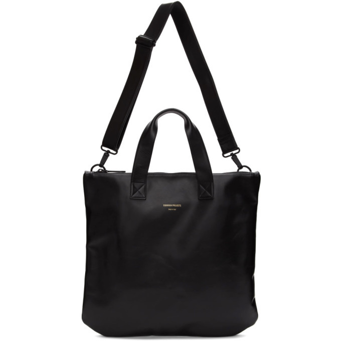 Photo: Common Projects Black Leather Utility Tote