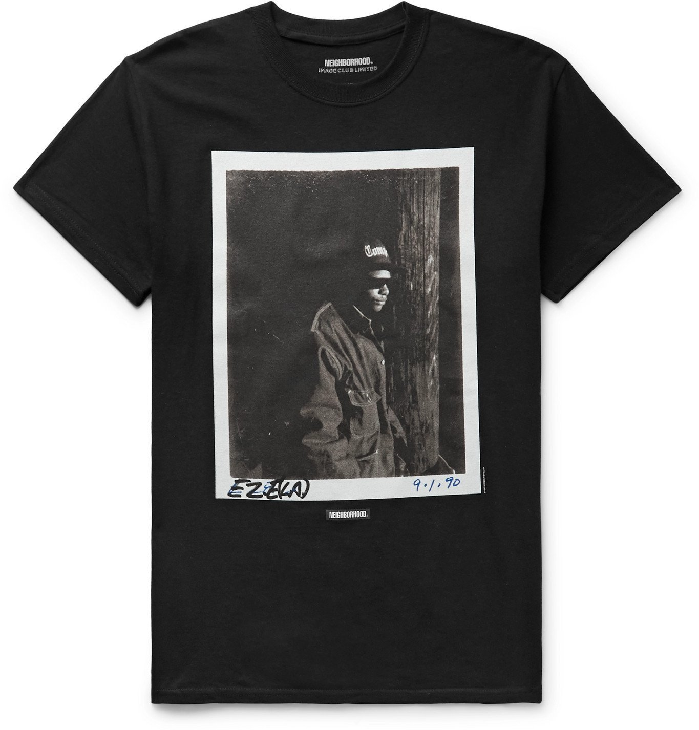 Photo: Neighborhood - Image Club Limited N.W.A. Printed Cotton-Jersey T-Shirt - Black