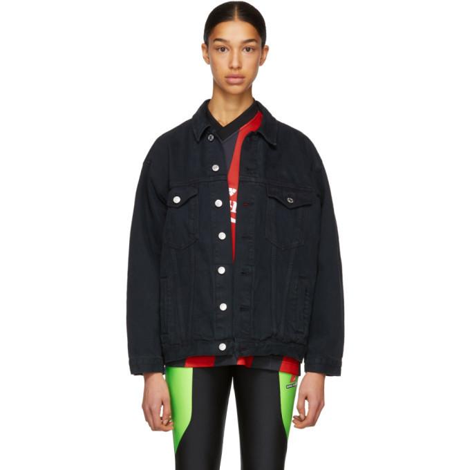 Martine Rose Black Oversized Denim Jacket