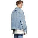 Ksubi Blue Denim Oh G Acid Trip Trash Jacket